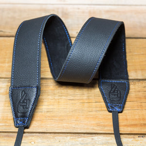 The best gift for photographers - Standard 53 - Grip - Blue/Black - Lucky Camera Straps - genuine leather camera strap personalised handmade in Australia  - 2