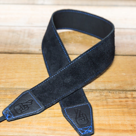The best gift for photographers - Standard 53 - Grip - Blue/Black - Lucky Camera Straps - genuine leather camera strap personalised handmade in Australia  - 1