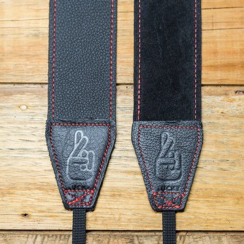 The best gift for photographers - Standard 53 - Grip - Red/Black - Lucky Camera Straps - genuine leather camera strap personalised handmade in Australia  - 1