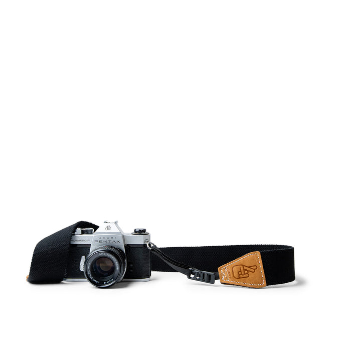 Leather camera strap with Quick Release Clips
