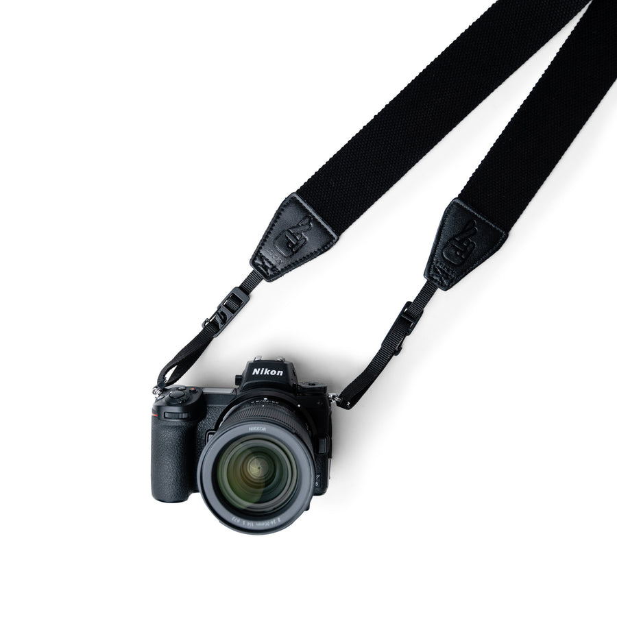 Vegan Leather and Cotton Camera Strap with Quick Release by Lucky Straps
