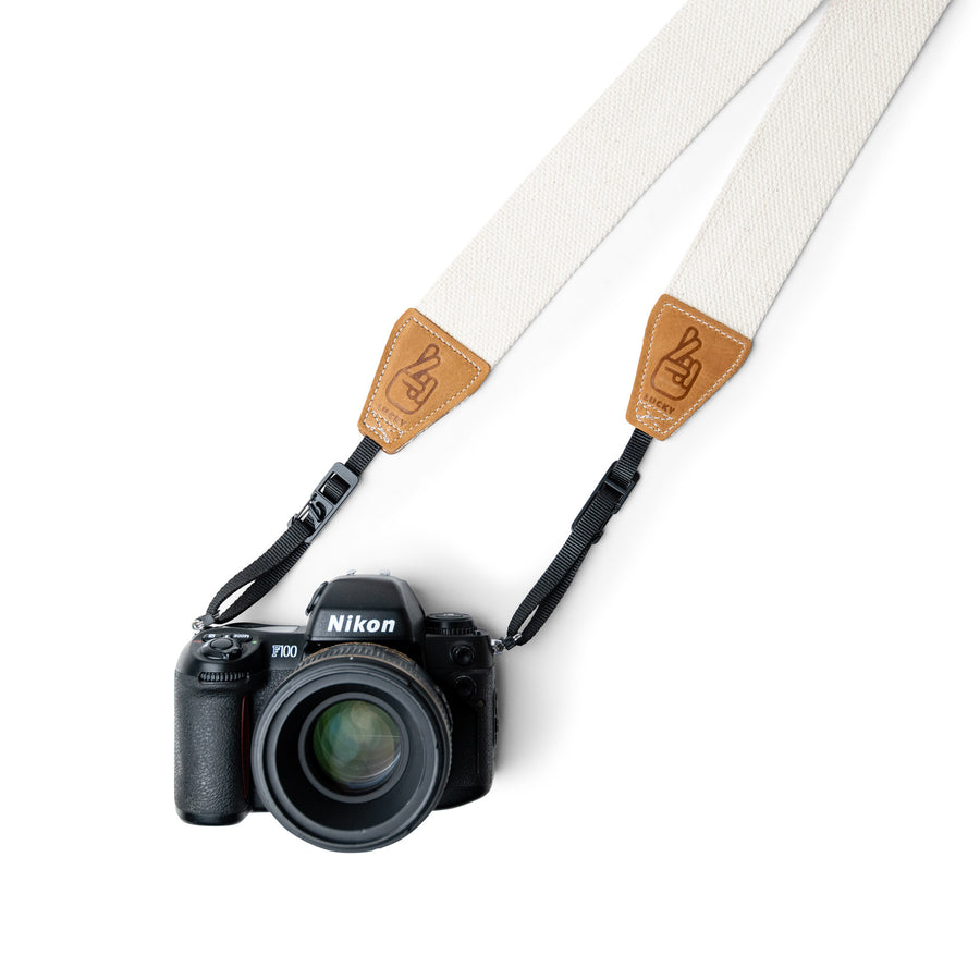 Natural Cotton Camera Strap with new design quick release system for DSLR and Mirrorless