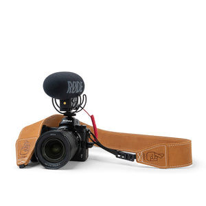 Anti-Theft Leather Camera Strap for Travelling Photographers and Vloggers