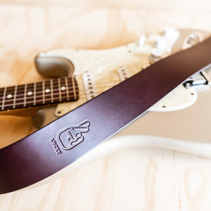 Simple Guitar Strap - Cognac