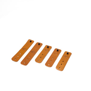 Cable Ties - Tan Leather