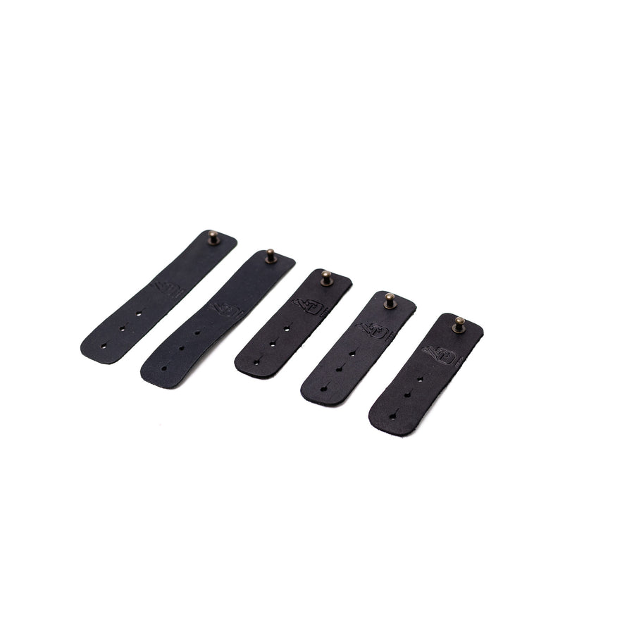 Cable Ties - Black Leather