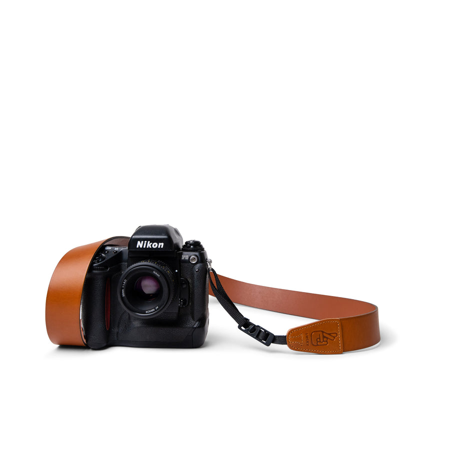 Vintage Retro Leather Camera Strap with Quick Release System for Nikon and Canon Cameras