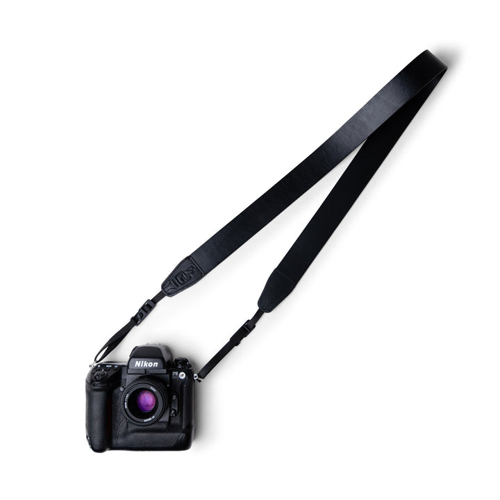 Simple 40 Leather Camera Strap Black Rapid Access Anti-Theft Camera Sling with Locking Quick Release Clips