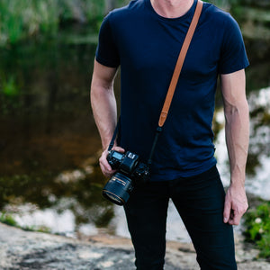Thin Leather Camera strap for DSLR and Mirrorless Lucky Straps