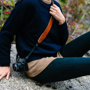 Leather Camera Sling for Travel Photographers, Videographers and Vloggers
