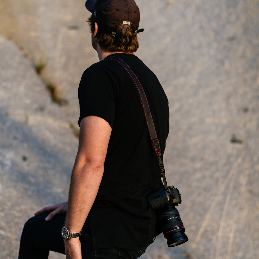 Leather Camera strap for Travel Photography