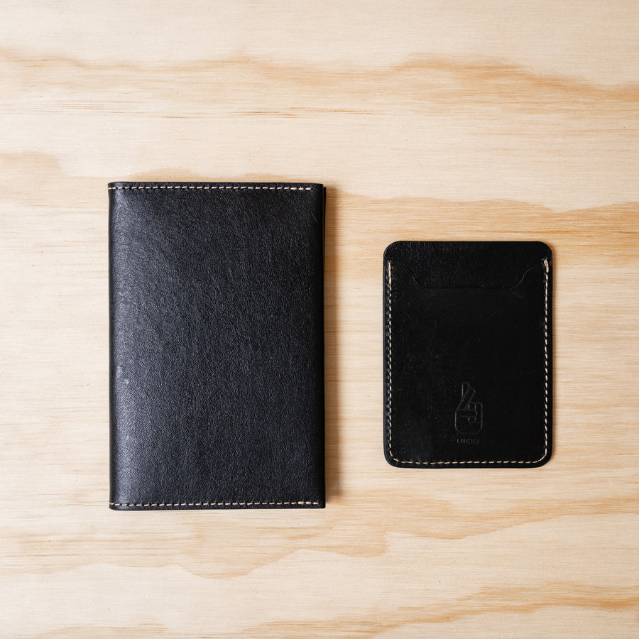 Slim Card Wallet - Black