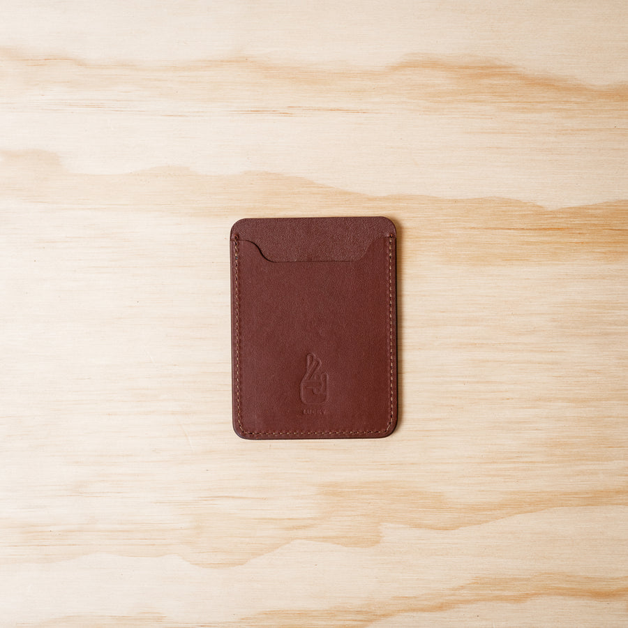 Slim Card Wallet - Chocolate