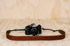 The best gift for photographers - Simple 40 - Natural Brown with Brown Stitch - Lucky Camera Straps - genuine leather camera strap personalised handmade in Australia  - 4