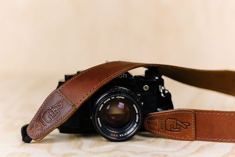 The best gift for photographers - Simple 40 - Natural Brown with Brown Stitch - Lucky Camera Straps - genuine leather camera strap personalised handmade in Australia  - 5
