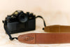 The best gift for photographers - Simple 40 - Natural Brown with Brown Stitch - Lucky Camera Straps - genuine leather camera strap personalised handmade in Australia  - 6