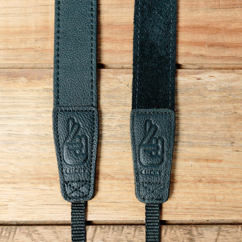 The best gift for photographers - Slim 30 - Grip - Black - Lucky Camera Straps - genuine leather camera strap personalised handmade in Australia  - 2