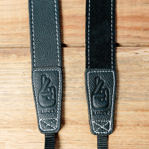 The best gift for photographers - Slim 30 - Grip - Black/White - Lucky Camera Straps - genuine leather camera strap personalised handmade in Australia  - 2