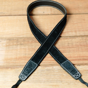 The best gift for photographers - Slim 30 - Grip - Black/White - Lucky Camera Straps - genuine leather camera strap personalised handmade in Australia  - 4