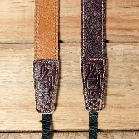 The best gift for photographers - Slim 30 - Retro - Caramel/Dark Brown - Lucky Camera Straps - genuine leather camera strap personalised handmade in Australia  - 2