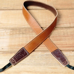 The best gift for photographers - Slim 30 - Retro - Caramel/Dark Brown - Lucky Camera Straps - genuine leather camera strap personalised handmade in Australia  - 1