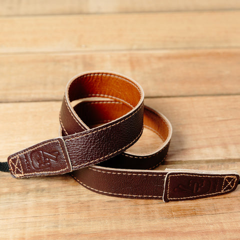 The best gift for photographers - Slim 30 - Retro - Caramel/Dark Brown - Lucky Camera Straps - genuine leather camera strap personalised handmade in Australia  - 3