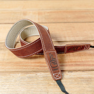 The best gift for photographers - Slim 30 - Classic - Brown/Bone - Lucky Camera Straps - genuine leather camera strap personalised handmade in Australia  - 3