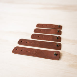 Leather Cable Ties - Classic Brown *New*