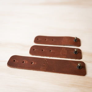 Leather Cable Ties - Classic Brown