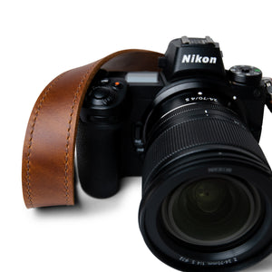 Lucky Straps Slim 30 Camera Strap in Classic Brown Leather with Quick Release System
