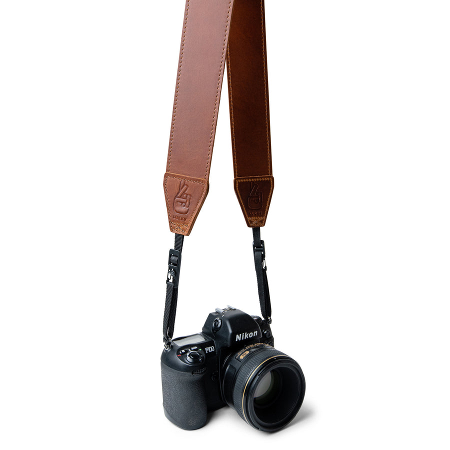 Quick Release Leather Camera Strap in Classic Brown Leather