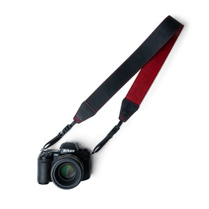 Lucky Straps Standard 53 Camera Strap in Vintage Black and Wine Red Leather