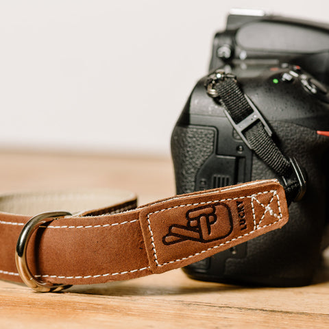The best gift for photographers - Wrist Strap - Brown/Bone - Lucky Camera Straps - genuine leather camera strap personalised handmade in Australia  - 5