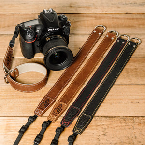 The best gift for photographers - Wrist Strap - Black/Tan - Lucky Camera Straps - genuine leather camera strap personalised handmade in Australia  - 8