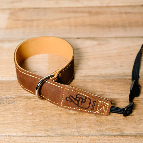 The best gift for photographers - Wrist Strap - Brown/Tan - Lucky Camera Straps - genuine leather camera strap personalised handmade in Australia  - 2