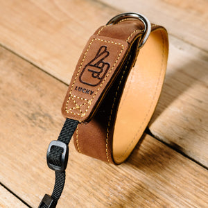 The best gift for photographers - Wrist Strap - Brown/Tan - Lucky Camera Straps - genuine leather camera strap personalised handmade in Australia  - 1