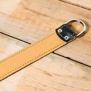 The best gift for photographers - Wrist Strap - Black/Tan - Lucky Camera Straps - genuine leather camera strap personalised handmade in Australia  - 5