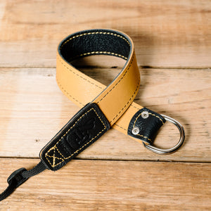 The best gift for photographers - Wrist Strap - Black/Tan - Lucky Camera Straps - genuine leather camera strap personalised handmade in Australia  - 2