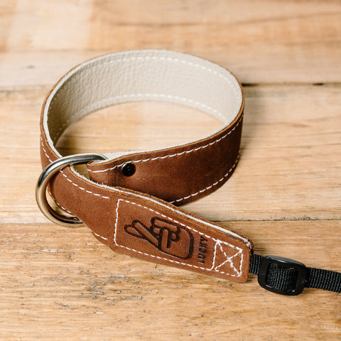 The best gift for photographers - Wrist Strap - Brown/Bone - Lucky Camera Straps - genuine leather camera strap personalised handmade in Australia  - 2
