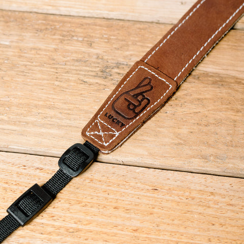 The best gift for photographers - Wrist Strap - Brown/Bone - Lucky Camera Straps - genuine leather camera strap personalised handmade in Australia  - 10