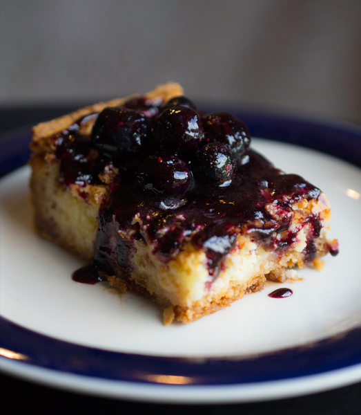 St. Louis Butter Cake with Blueberry Coulis