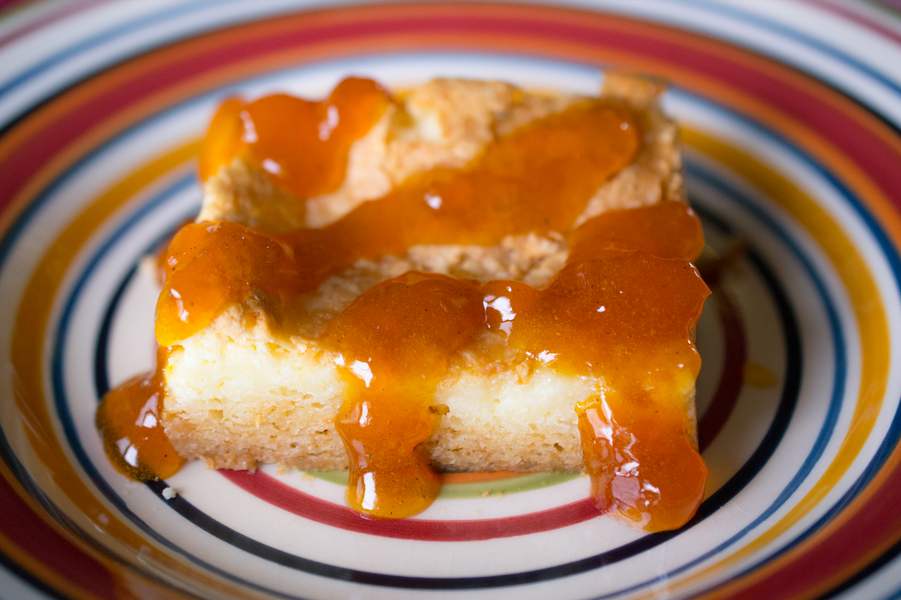 St. Louis Butter Cake with Apricot and Almond glaze