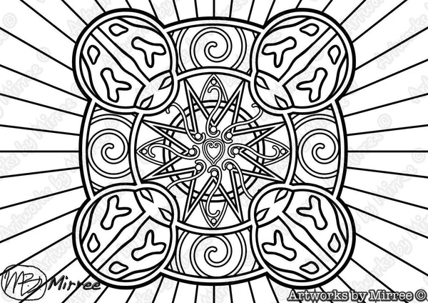 Lady Beetle Colouring Single PDF Page COLOURING PAGE By Mirree Contemporary Dreamtime Series