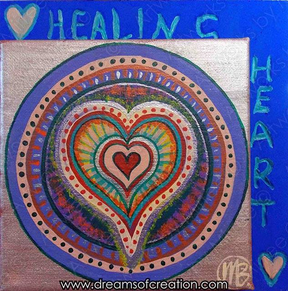 'Healing Heart Activation' ORIGINAL PAINTING by Mirree Contemporary East meets West Art