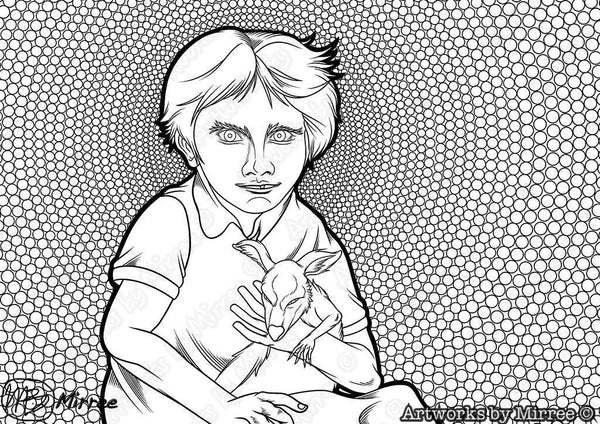 'Aboriginal and Torres Strait Islander Children's Day for boys Colouring Single PDF Page' COLOURING PAGE by Mirree Contemporary Dreamtime Series