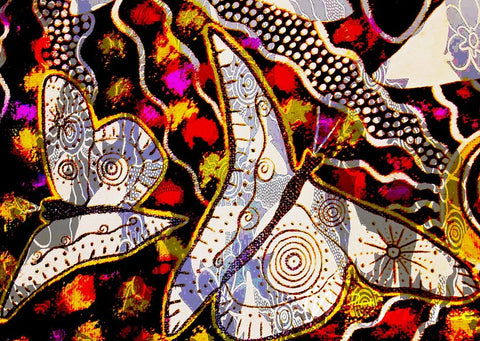 Ancestral Butterfly Aboriginal Art Animal Dreaming A6 Gift Card Single by Mirree