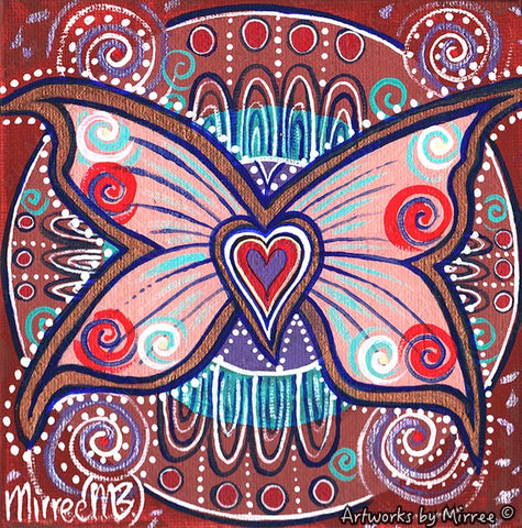 'Ancestral Butterfly' Original Painting by Mirree Contemporary Dreamtime Animal Dreaming