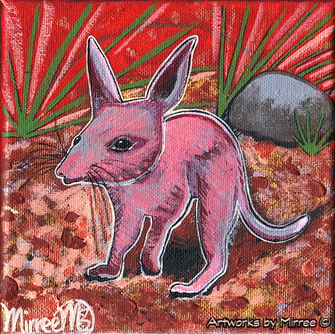 'Australian Bush Bilby' Original Painting by Mirree Contemporary Dreamtime Animal Dreaming