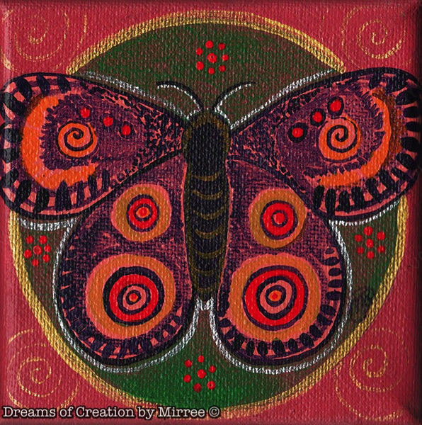 'Bogong Moth Connecting the tribes' Original Painting by Mirree Contemporary Dreamtime Animal Dreaming