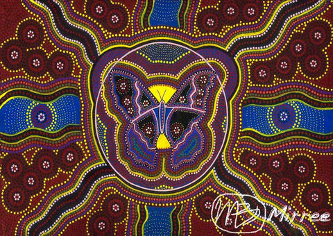 Butterfly Spirit Dreaming Giclee Aboriginal Art Print by Mirree